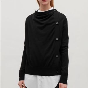 COS Asymmetrical Cotton Cardigan, xs